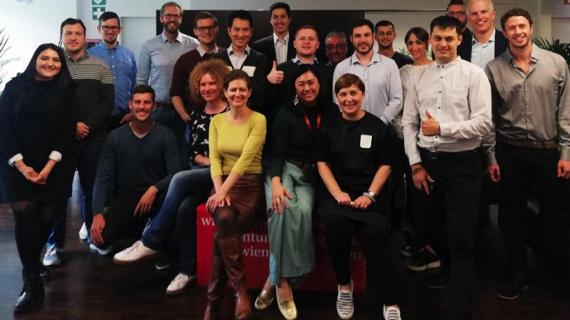 Teilnehmer des Vienna Startup Package 2018. © Vienna Business Agency