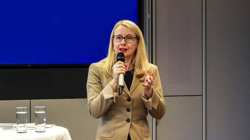 Digital- und Wirtschaftsministerin Margarete Schramböck. © Trending Topics