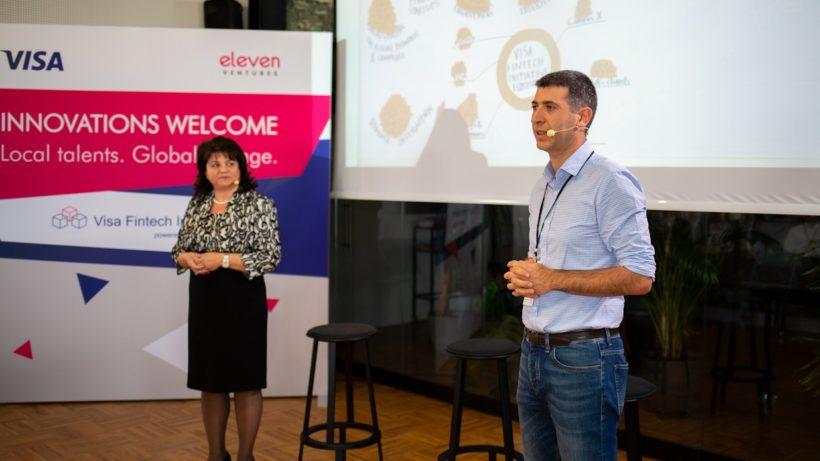 Krassimira Raycheva of Visa and Daniel Tomov of Eleven Ventures presented the new acceleration program ©Eleven Ventures