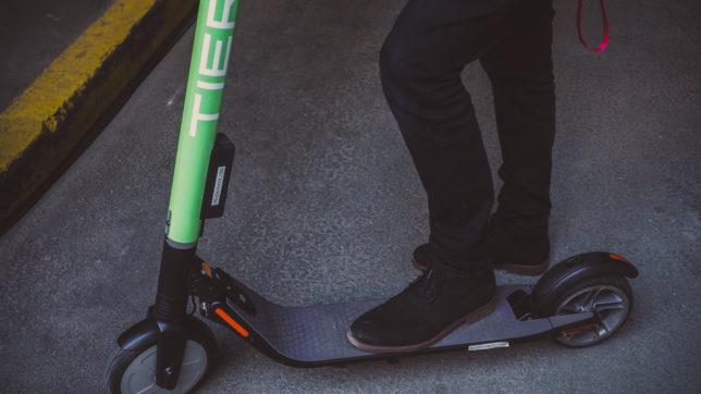 Die Tier-Mobility-Scooter stammen von Hersteller Ninebot. © Trending Topics.