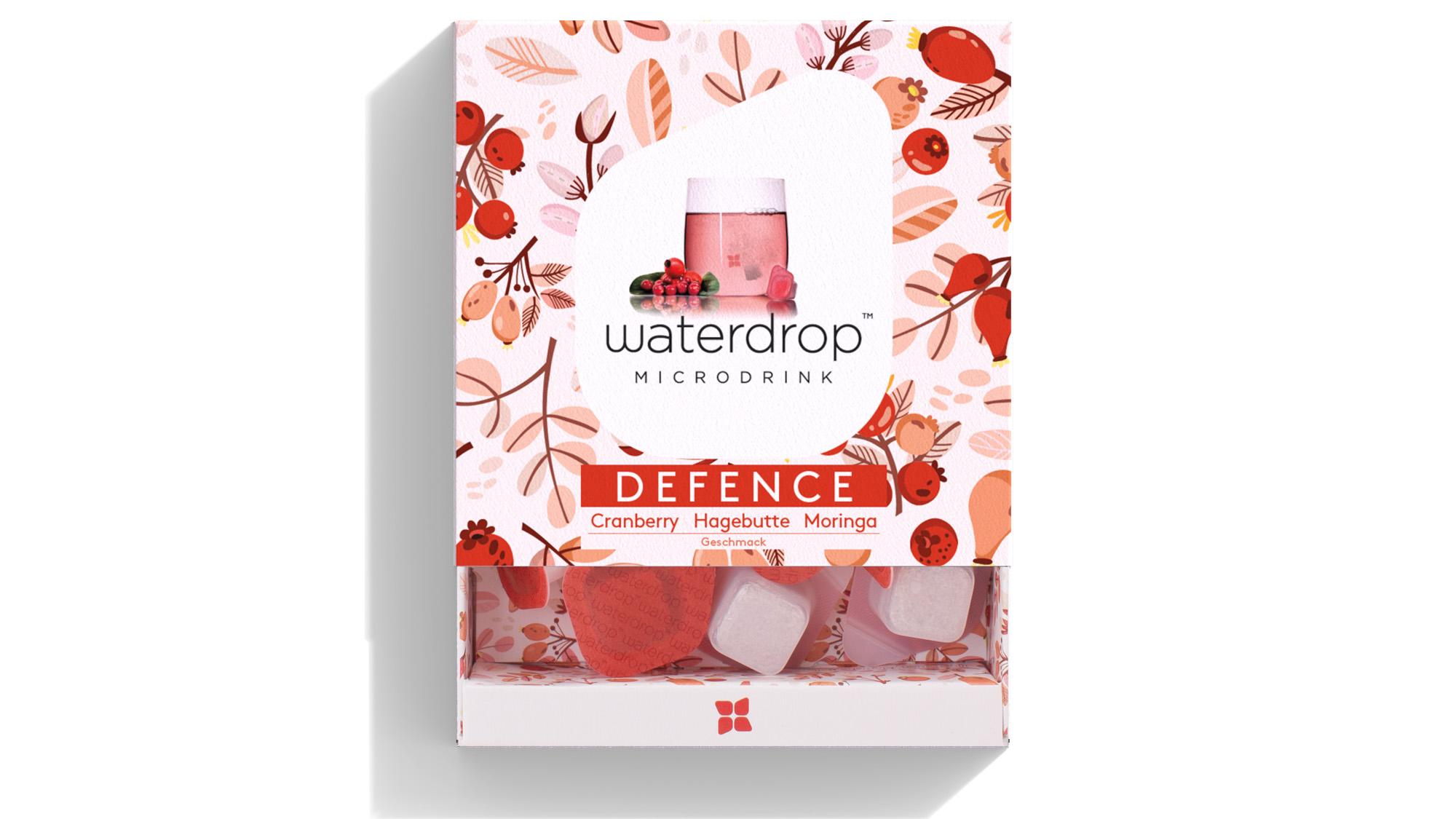 Waterdrop: einzeln verpackte Brausetabletten ohne Zucker und Konservierungsstoffe © Waterdrop