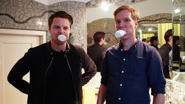 Amabrush-Gründer Marvin Musialek und Jakob Steinschaden (Trending Topics). © Trending Topics