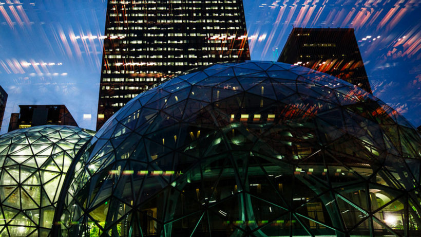 Die Amazon Spheres beim Hauptsitz in Seattle. © Amazon