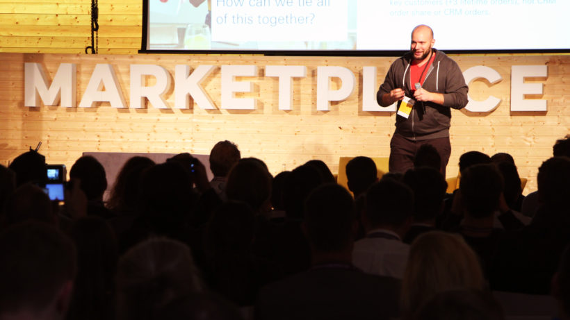 Mats Diedrichsen von Delivery Hero auf der Bphne der Marketplace Conference 2018 in Berlin. © Trending Topics