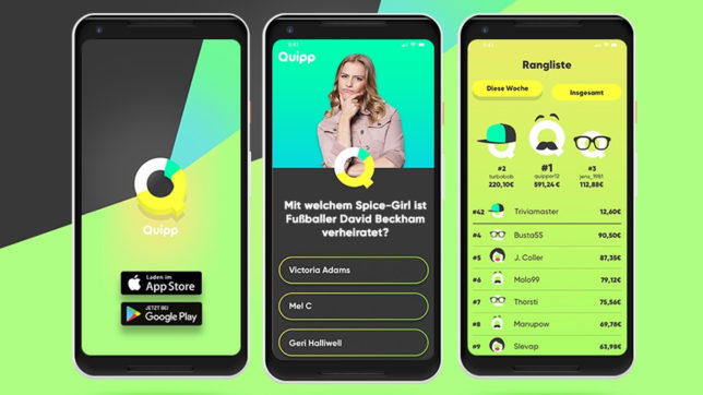 Quipp gibt es für android und iPhone. © PULS 4/Gerry Frank