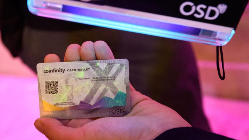 Die Card Wallet von Coinfinity und der Staatsdruckerei © OeSD/APA-Fotoservice/Hörmandinger