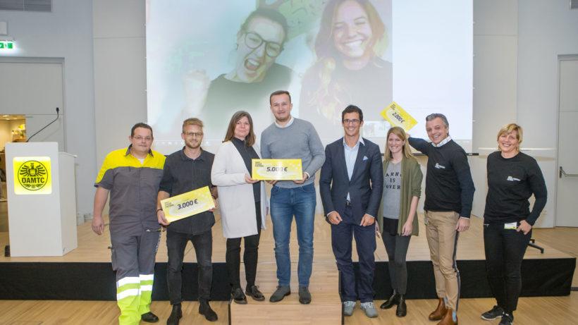 Die Siegerteams des ÖAMTC Roadpatrol Ideathons © ÖAMTC/Mikes