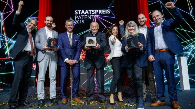 Die Sieger des Staatspreis Patent 2018 © Patentamt/ Christian Husar