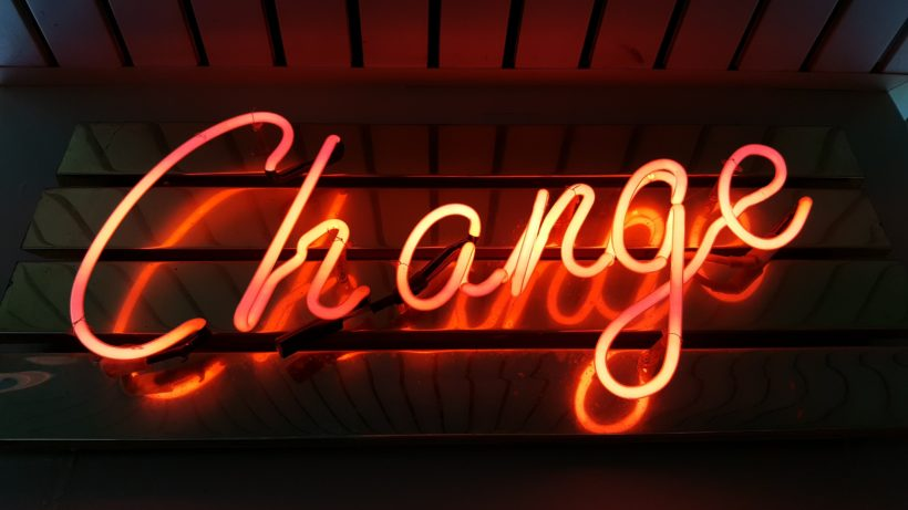 Change is coming. © Ross Findon on Unsplash