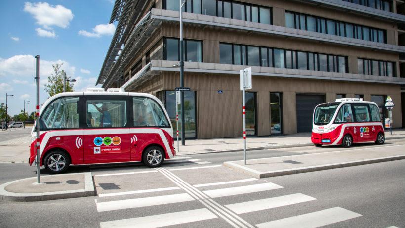 Die autonomen Busse in der Seestadt Aspern © Wiener Linien/Manfred Helmer