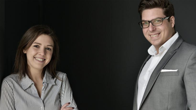 Rebecca Povoden und Gregor Schiefer, die beiden Gründer von emerkey. © emerkey