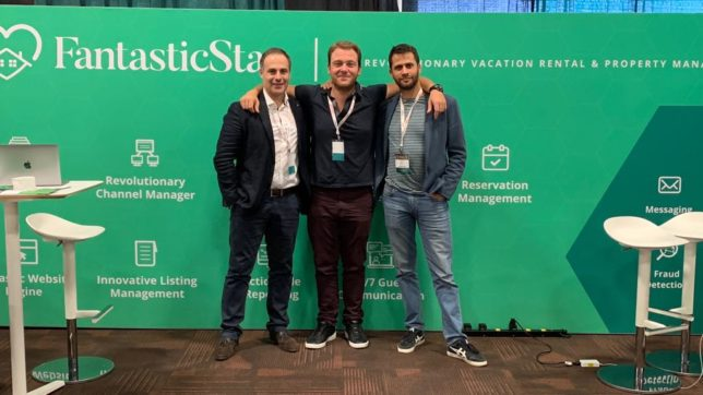 The very same code Ivan Nikolov (in the middle) started writing alone in 2017 is today a Sofia-based company of 50 people called FantasticStay. ©FantasticStay