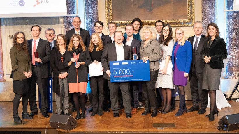 Die Sieger des Phönix Gründerpreises © aws/Martin Lusser