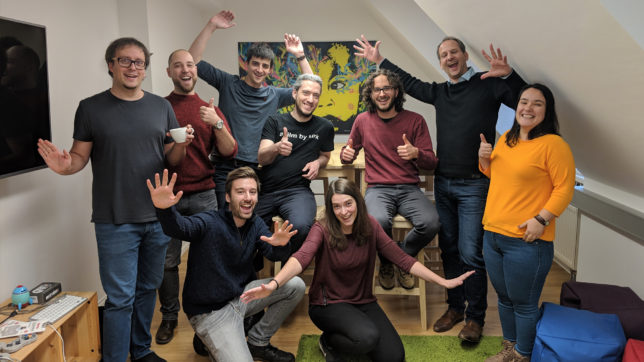 Das wegfinder-Team freut sich über den Preis. © wegfinder