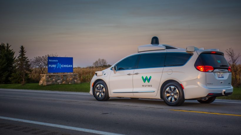 Waymo-Auto auf dem Weg nach Michigan. © Alphabet Inc.