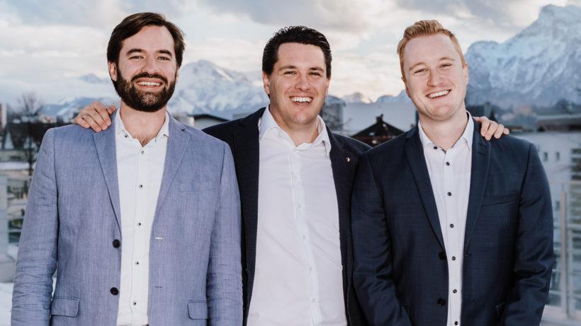 Georg Sorst (CTO), Matthias Heimbeck (CEO) und Simon Reichel (COO) von Findologic. © derPasquali