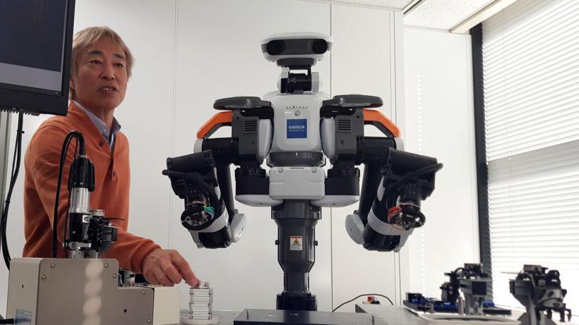 Nextage von Kawada Robotics schraubt, steckt und sortiert in Fabriken © Trending Topics