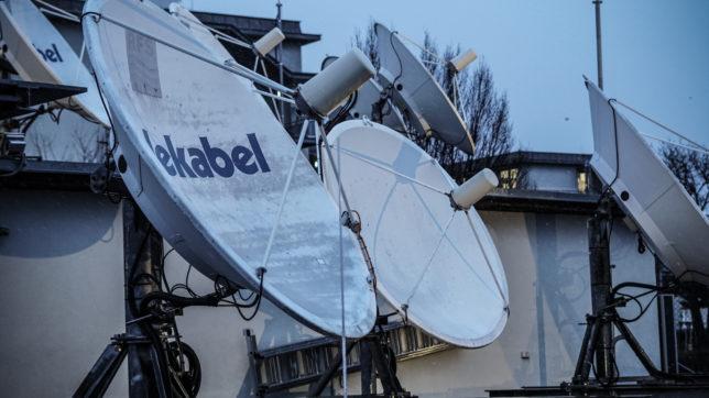 Satellitenfarm T-Mobile © Trending Topics/Robert Ziffer-Teschenbruck