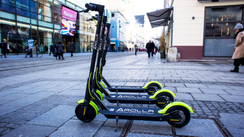 Die ersten Arolla-Roller. © AMV Networks