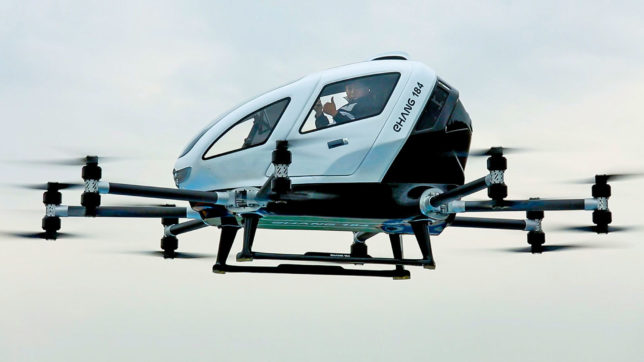 Die Passagier-Drohne Ehang 184. © Ehang