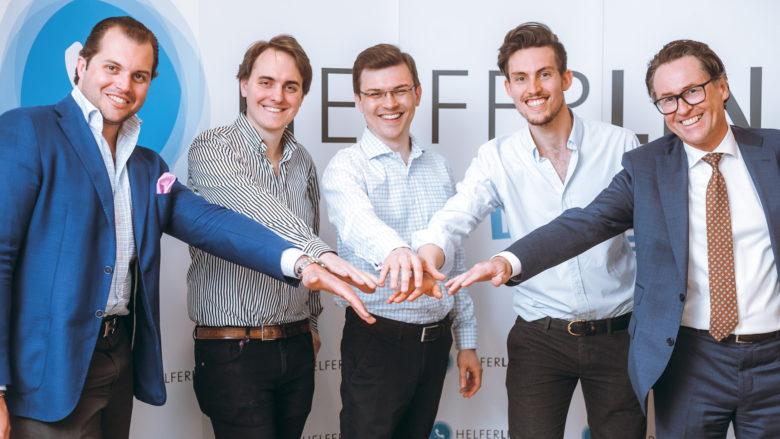 Lorenz Edtmayer, Janko Glavic (CTO), Clemens Schmidgruber (CEO), Alexander Niederhofer (CMO), Georg Riedl. © Helferline