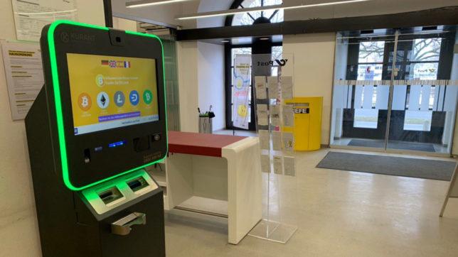 Der neue Bitcoin-Automat in der Postfiliale in Bregenz © Kurant