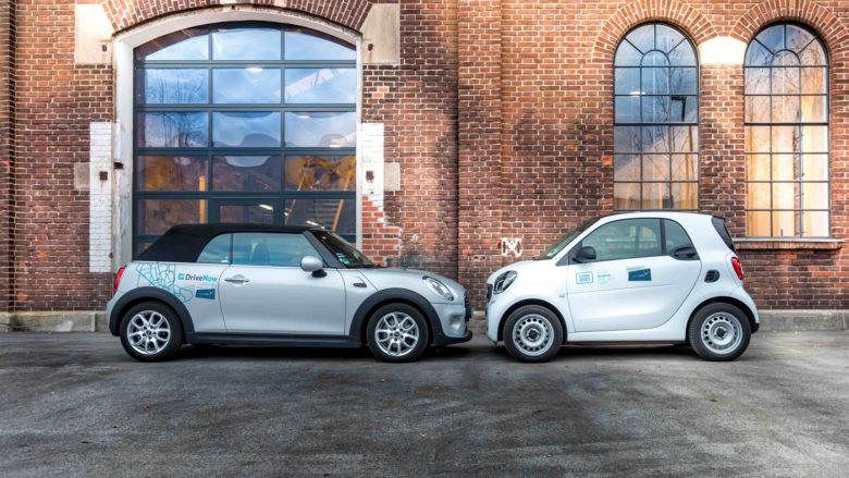Gehören jetzt zusammen DriveNow und Car2Go. © Share Now