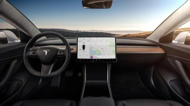Model 3 von innen. © Tesla