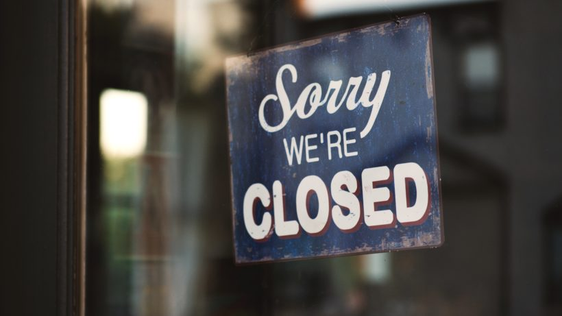 Sorry, we're closed. © Tom Mossholder via Pexels