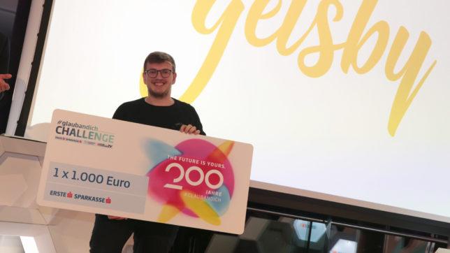 Petar Iliev von getsby hat mit seinem Pitch die #glaubandich-Challenge FinTech in Wien gewonnen © Dave Bitzan/Trending Topics
