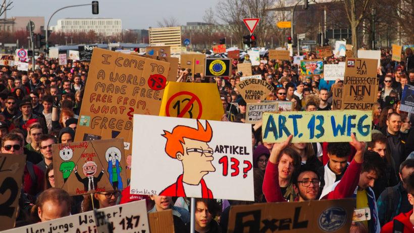 Demo gegen Artikel 13 in Berlin. © Netzpolitik.org/Markus Beckedahl