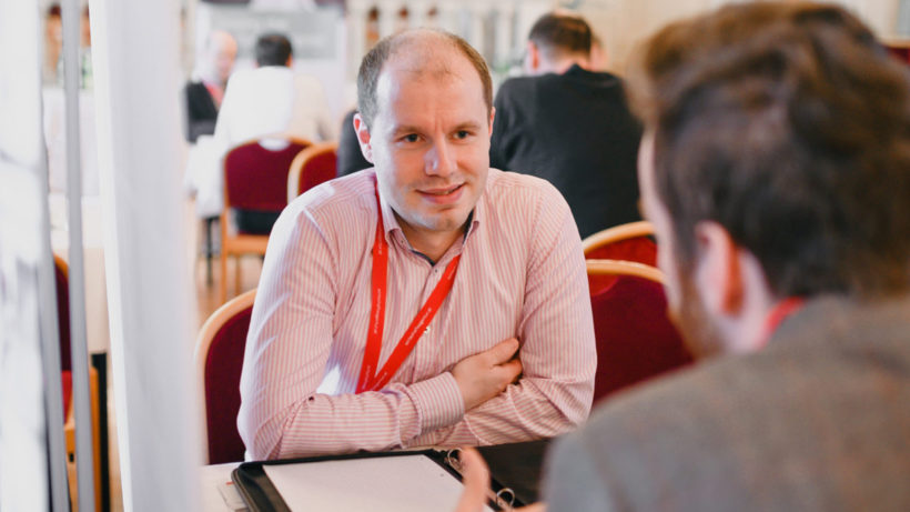 Joachim EdeJoachim Edel von Frequentis auf den B2B Software Days auf der Suche nach Startups © B2B Software Days/ theagendastudio l von Frequentis auf den B2B Software Days auf der Suche nach Startups © aws