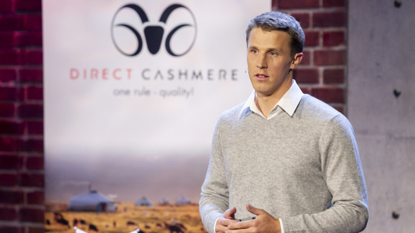 "Direct Cashmere im Pitch bei ""2 Minuten 2 Millionen"" © Gerry Frank"
