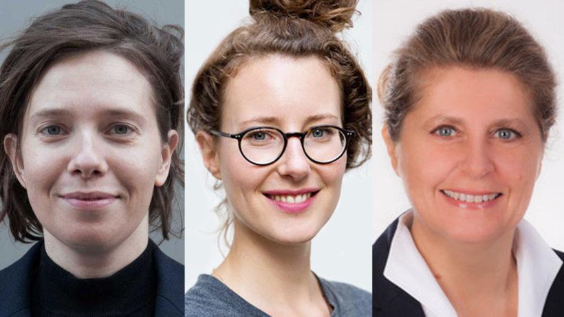 Margot Deerenberg (Paradocks), Klaudia Bachinger (WisR) und Regine Bendl (WU).