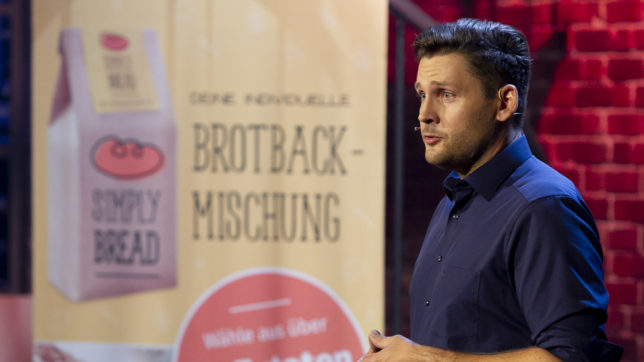 "Simply Bread im Pitch bei ""2 Minuten 2 Millionen"" © Gerry Frank"
