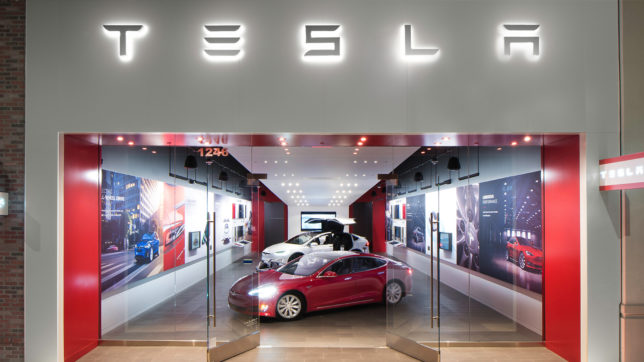 Tesla-Shop in den USA. © Tesla