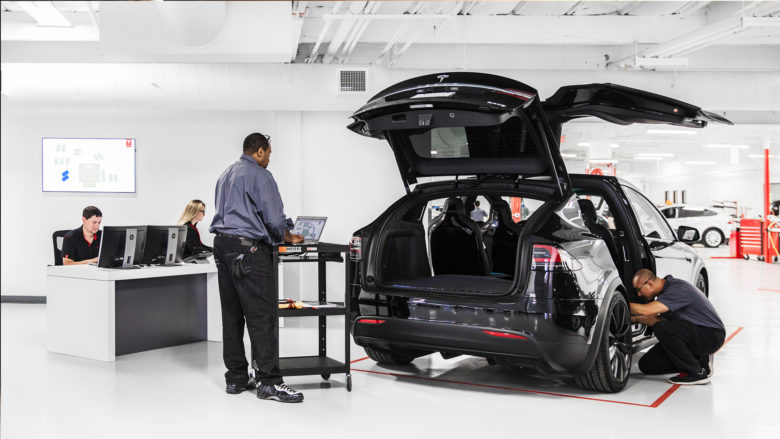Tesla-Shop in den USA. © Tesla