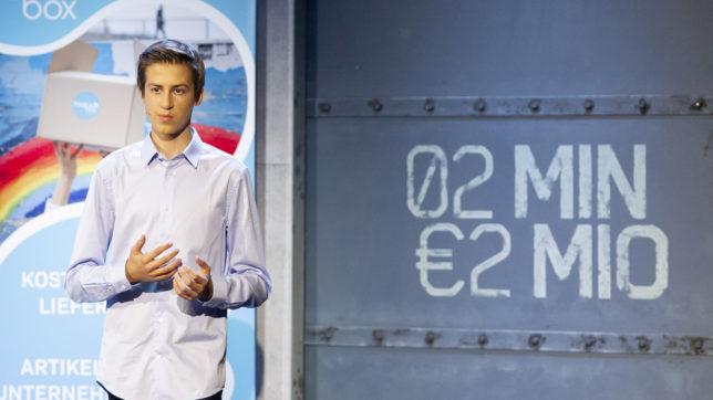 Moritz Lechner bei 2 Minuten 2 Millionen © Gerry Frank