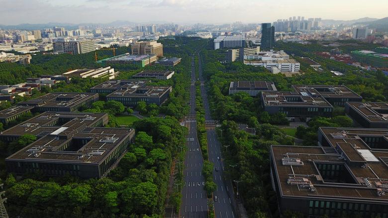 Das Huawei HQ in Shenzhen, China. © Huawei