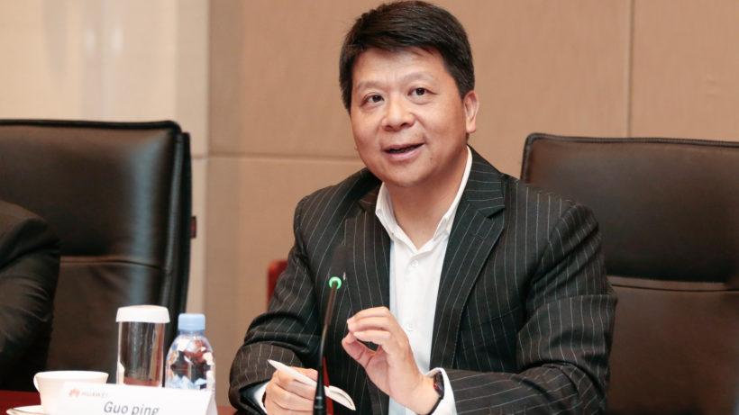 Huawei's Deputy Chairman of the Board and Rotating Chairman Guo Ping. © Huawei