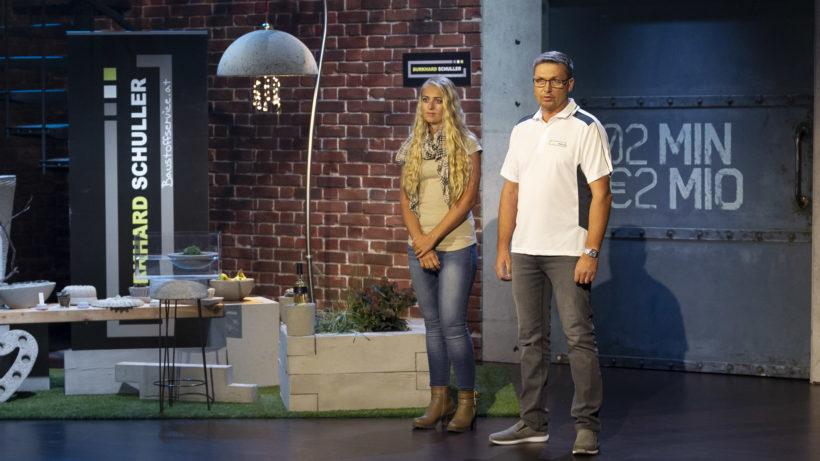Burkhard Schuller pitcht Kreativleichtbeton bei 2 Minuten 2 Millionen © Gerry Frank