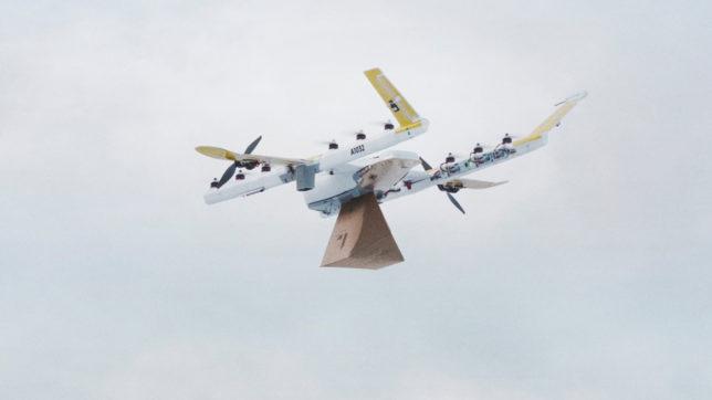 Die Wing-Drohne. © Wing