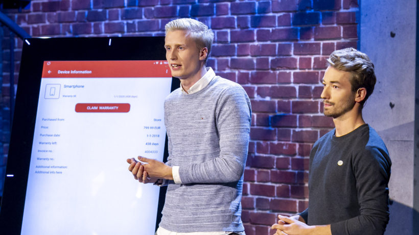 Warrify im Pitch bei 2 Minuten 2 Millionen © Gerry Frank