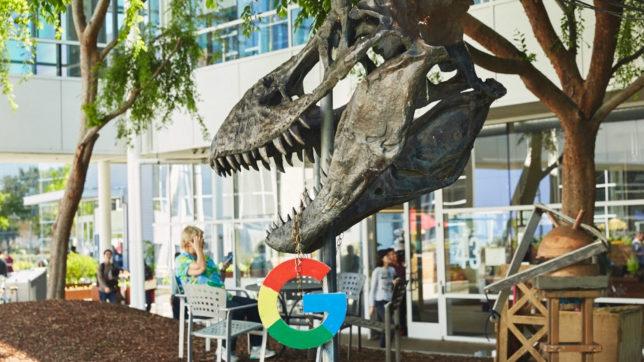 T-Rex am Googleplex. © Google