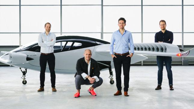 Das Team des Münchner Startups Lilium. © Lilium
