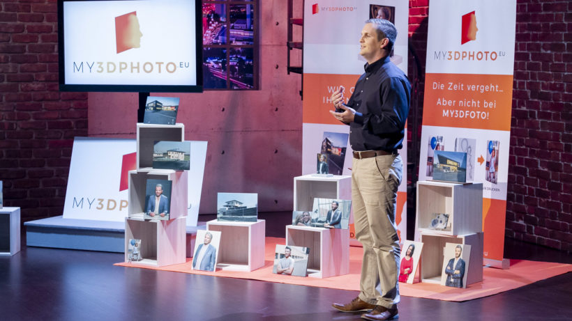 My3DPhoto-Gründer Friedrich Prötsch-Jechtl im Pitch. © Gerry Frank