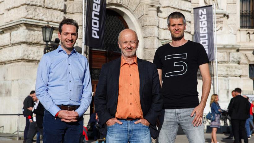 Lucanus Polagnoli, Hansi Hansmann und Michael Eisler. © startup300