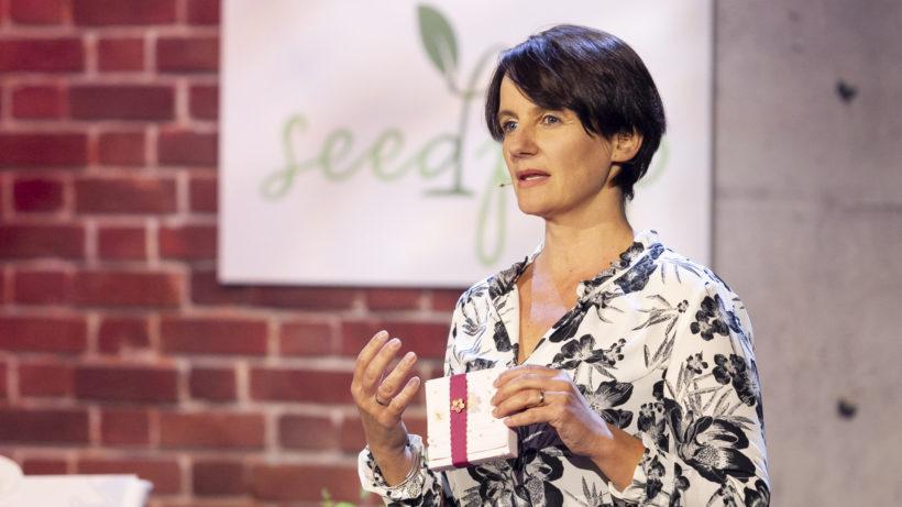 Seedpap-Gründerin Peternell bei 2 Minuten 2 Millionen © Gerry Frank