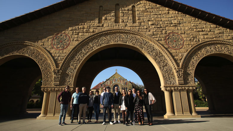The Factory1 delegation at the gates of Stanford. © Factory1