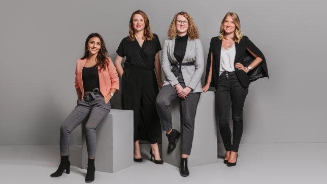 Mahdis Gharaei, Lisa Fassl, Nina Wöss und Tanja Sternbauer. © Female Founders